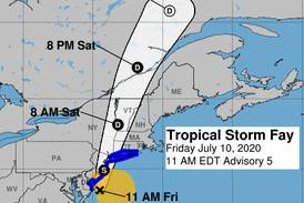Trump scraps outdoor rally because of Tropical Storm Fay