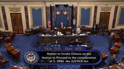 Democrats block start of Senate debate on police reform