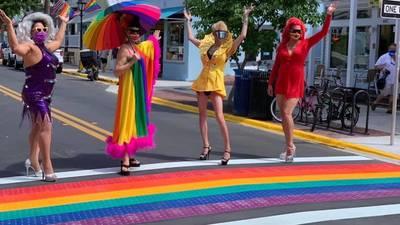 Key West unveils their newer, brighter, rainbow crosswalks